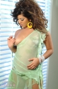 Green Dress Big Hair Tease picture 23