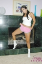 White Cotton Panties And Pink Shorts With The Fireplace picture 5
