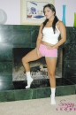 White Cotton Panties And Pink Shorts With The Fireplace picture 6