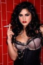 Red Tile Sink Black Corset picture 11