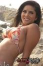 Orange Bikini At Beach picture 1